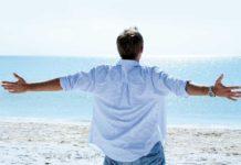 Man enjoying in the beach