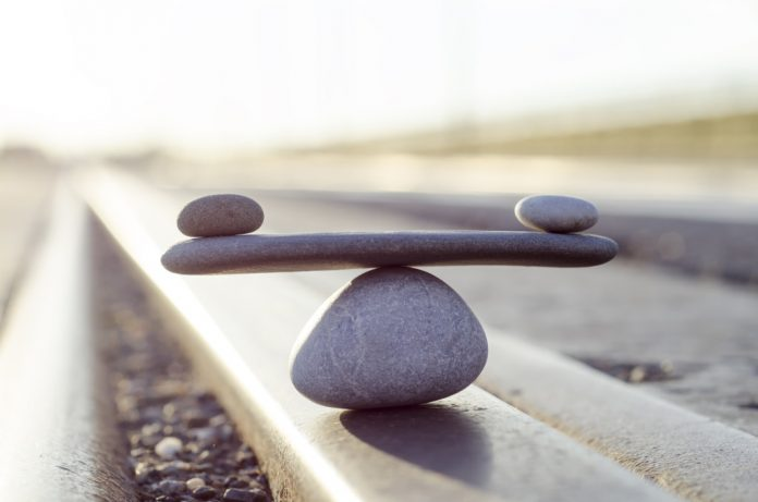 two stones balanced / life balance concept