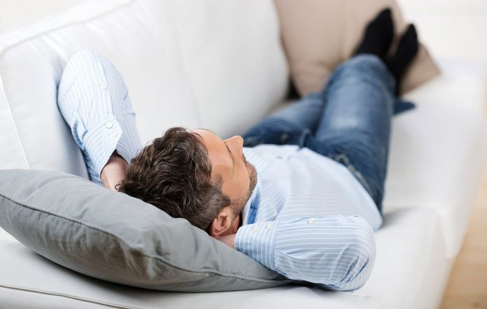 Man relaxing on the couch