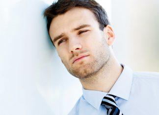 Man with a sad face