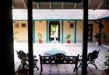 verandah in a homestay villa