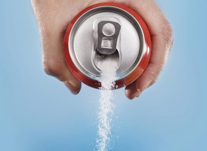 sugar being poured from can, detox