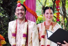 interfaith marriage ceremony of Alexandra and Madhavan