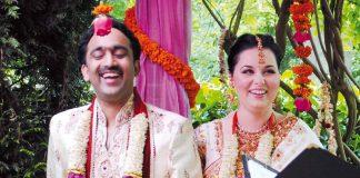 interfaith marriage ceremony of Alexandra and Madhavan
