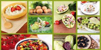 collage of food, salad, vegetables, raw