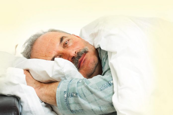Man irritable while sleeping