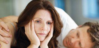 man consoling his depressed partner