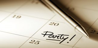 party marked on calendar