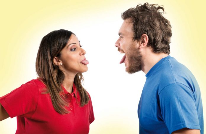 Couples making funny faces