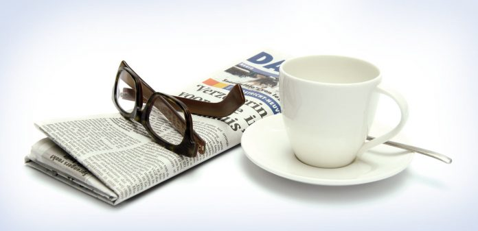 Spacks, news paper with tea