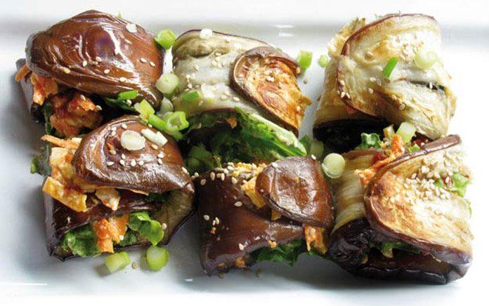 Eggplant roll ups
