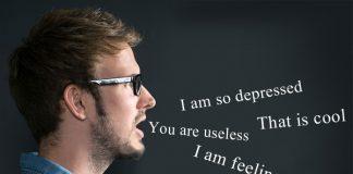 Man using emotionally empty words