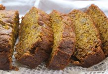Beet Zucchini Flax Banana Bread