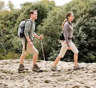 Couples enjoying trekking