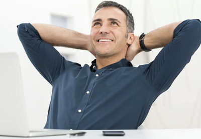 Man relaxing from his work