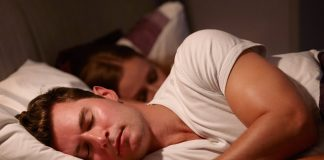 Man having a sound sleep