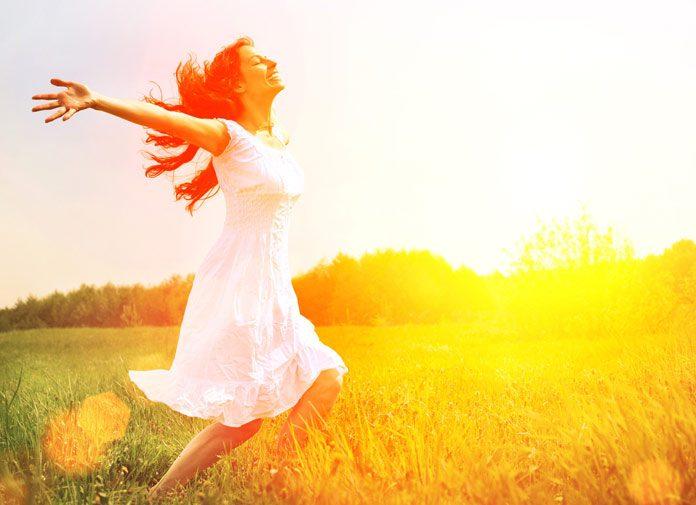 Woman enjoying her freedom