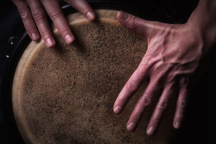 hands on drum