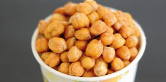 Oven roasted chick peas