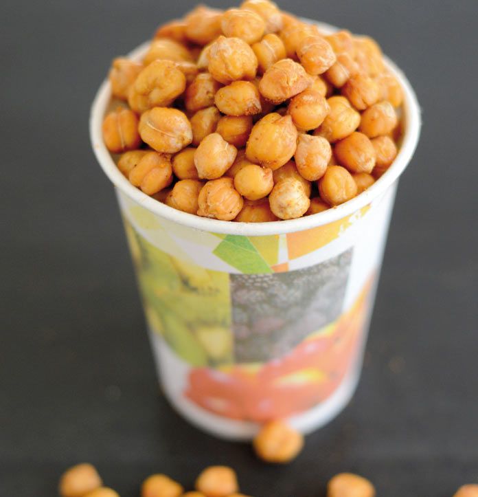 Spicy oven-roasted chickpeas for tea-time snacking - Complete ...