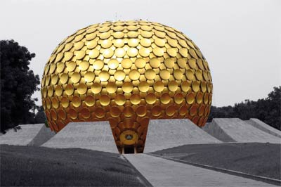 The Matrimandir at Auroville