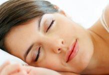 Woman having a sound sleep