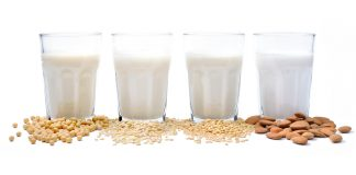 Plant-based milk: soy milk, rice milk, sunflower seeds milk, almond milk