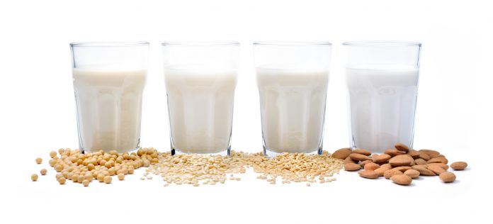 Plant-based milk: soy milk, rice milk, sunflower seeds milk, almond milk