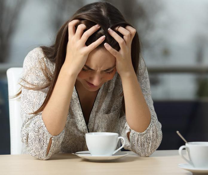Woman depressed after a heartbreak
