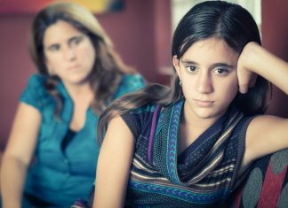 Mother concerned about her anxious teen