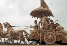Krishna and Arjuna on the chariot - Bhagavad Gita