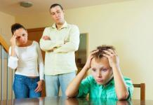 Parents annoyed at their child / co-dependent children concept