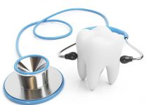 tooth with stethoscope around it, dental myths
