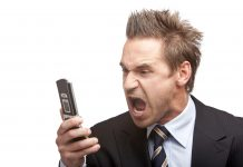 angry man screaming into phone