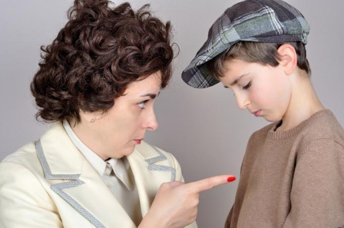 Strict mother with son, narcissistic
