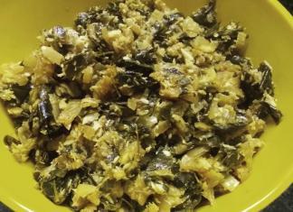 Moringa leaves and fresh coconut stir-fry