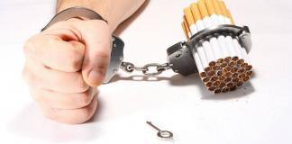 man handcuffed to cigarettes, smoking habit
