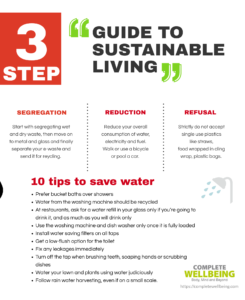Poster: A 3-step guide to sustainable living