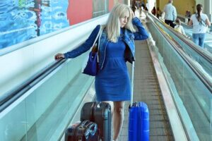 Woman travelling solo