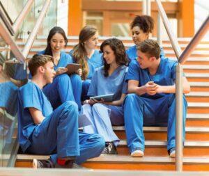 Classmates at Nursing School